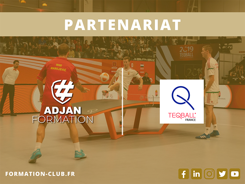 Teqball, partenaire d'Adjan Formation !