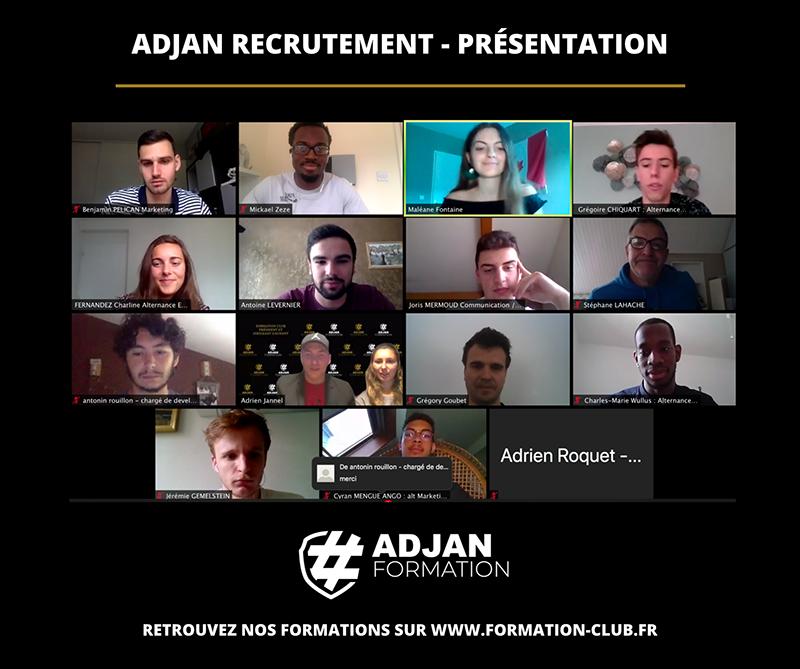 Retour sur la présentation en visio-conférence d'Adjan Recrutement