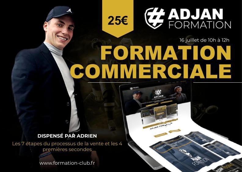 Assistez à la formation commerciale d'Adjan Formation